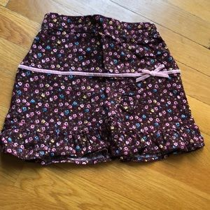 Floral corduroy Old Navy skirt 3t